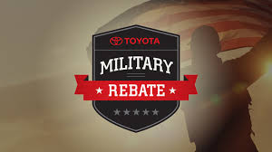 toyota offers toyota offers new vehicle rebate to military personnel peruzzi