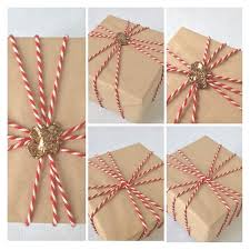 country christmas wrapping paper wax seals with bakers twine and ribbon means