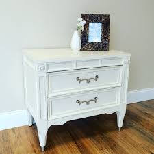 Vintage Nightstands American Of Martinsville White Bedside Table By Vintagehipdecor