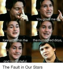 The Fault In Our Stars Meme - you gave me forever within the the numbered days and i m grateful