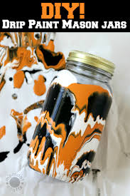 halloween drip painted mason jars diy momdot