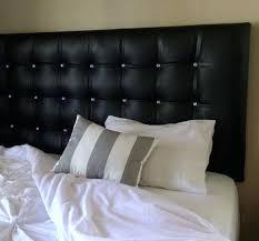 white headboard with rhinestone king size black faux leather