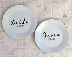 personalized wedding plate custom dinnerware etsy