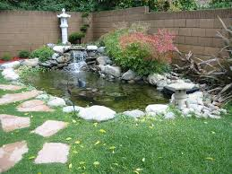 build fish pond waterfall great backyard designs backyard