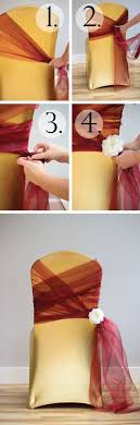 diy chair sashes best 25 chair ties ideas on chair bows wedding chair