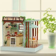 Sweet Coffee Shop France Style Diy Doll House 3d Miniature Online Get Cheap Small Wooden Toys For Shops Aliexpress Com