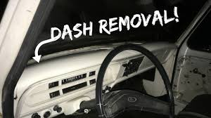 1971 ford f100 dash removal youtube
