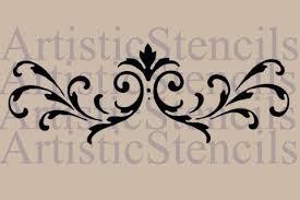 ornaments scroll stencils artistic stencil designs
