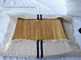 Chair Seat Cushions How To Cover Chair Cushions Grain Sack Cottage In The Oaks