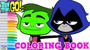 teen titans coloring book raven beast boy episode surprise egg