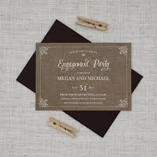 wedding invitations auckland rustic country engagement party invitation be my guest