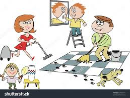 kids cleaning the house clipart clipartsgram com