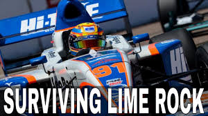 pro mazda iracing pro mazda at lime rock surviving lime rock youtube