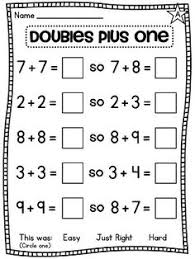 doubles addition facts worksheets here s a rap for helping students remember the doubles facts