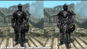 Skyrim Light Armor Mods Skyrim Mod Spotlight Dark Nemesis Armor Ebony Reincarnation And