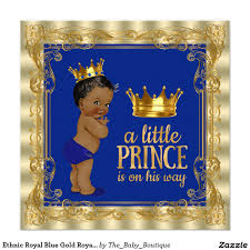 ethnic royal blue gold royal prince baby shower 5 25x5 25 square
