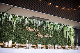 wedding backdrop green hire flower wall bridal backdrop 6m wedding hire melbourne