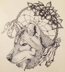 remarkable grey wolf and indian catcher design