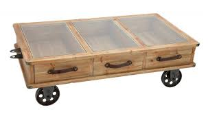 photo of rustic coffee table with wheels with rustic coffee table