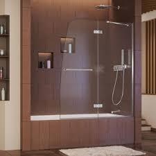 Glass Tub Shower Doors Lowes Frameless Shower Doors Trackless Glass Tub Pivot Door