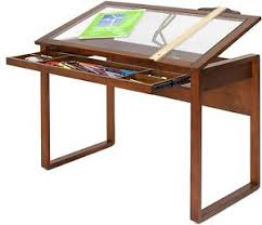 Drafting Table Glass Drawing Drafting Table Craft Desk Storage Wood Glass Top