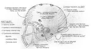 helmet sketch sg helmets