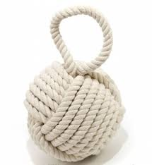 quality heavy nautical knot doorstop cream by carousel home