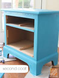 chalky paint rescues old nightstand destined for the curb