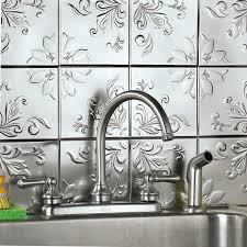 Faux Tin Kitchen Backsplash Faux Tin Backsplash Tiles U2014 New Basement Ideas Photos Of Best