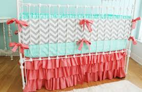 Turquoise Chevron Bedding Nursery Beddings Grey And Coral Chevron Bedding Expansive Bamboo