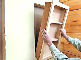Recessed Medicine Cabinet Wood Door Install Recessed Medicine Cabinet Recessed Medicine Cabinets With