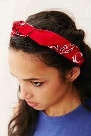 knotted headband renewal recycled bandana knot headband in lyst