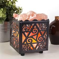 himalayan salt l recall amazon crystal decor natural himalayan salt l in star design metal