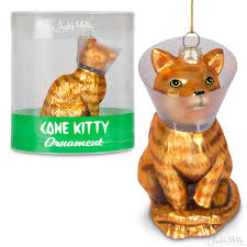 cone kitty ornament accoutrements archie mcphee wholesale