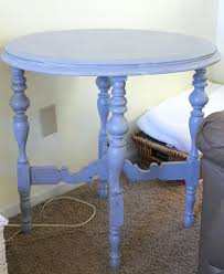 Painted Wood Coffee Table Side Table Aqua Side Table Blue Painted Furniture Wood Narrow