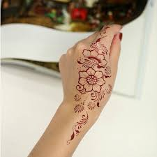 gc india henna style hand leg neck arm temporary tattoo sticker