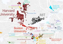 Map Of New England Area by Map Of Boston Universities You Can See A Map Of Many Places On