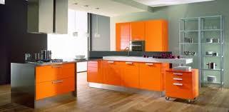 cuisine orange et noir cuisine design orange outil intéressant votre maison