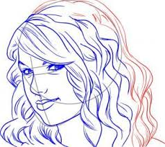 how to draw taylor swift 6 steps