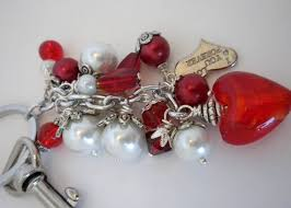 red key rings images 105 best drop bead key chain dangles images key jpg