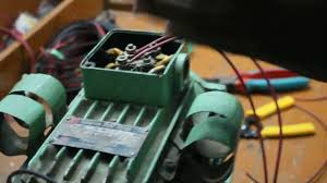 how to connect twin capacitor with a single phase motor split