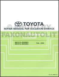 2002 toyota camry service manual 2004 2008 toyota camry solara convertible collision repair