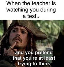 Meme Test - when the teacher is watching you during a test meme xyz