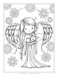 angel holding fawn from the book