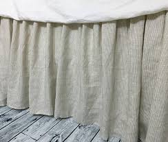 Shabby Chic Bed Skirts by Amazon Com Natural Linen Ticking Stripe Bedskirt Natural Linen
