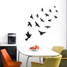 online get cheap pigeon birds wall sticker aliexpress dctop flying pigeon bird black vinyl art wall sticker living room bedroom decor muralhome window decoration decal
