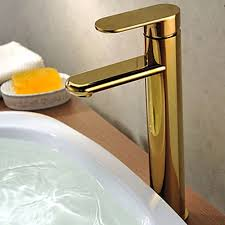 solid brass single handle ti pvd finish bathroom faucet