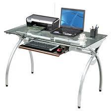 Glas Desk Glass Top Computer Desk Target