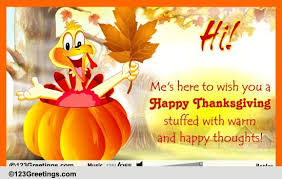 wish you a happy thanksgiving free turkey ecards greeting