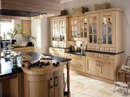 rustic french country kitchen cream color granite countertop
